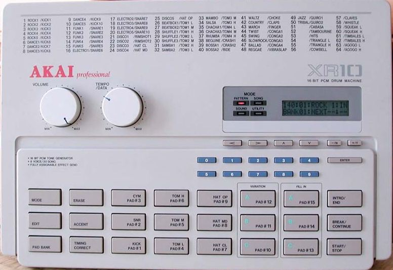 Драм машина с PCM волновыми